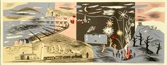 John Piper (1903-1992), Nursery Frieze II, 1937, Colour lithograph, £6,500, Modern British Paintings and Prints - The Scottish Gallery, Edinburgh - Contemporary Art Since 1842