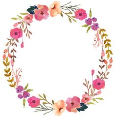 wreath, Hand Painted, Flower PNG Image and Clipart Frame Floral, Flower Frame, Flower Art, Wreath Watercolor, Watercolor Flowers, Watercolor Art, Painted Leaves, Hand Painted, Flower Png Images