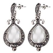 Vintage Style Water-drop Shape Opal Earrings – USD $ 2.99