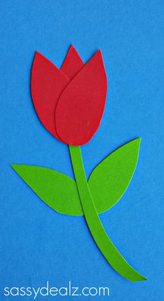 How to Make Paper Tulips - Easy Kids Craft - Crafty Morning Bible School Crafts, Daycare Crafts, Fathers Day Crafts, Classroom Crafts, Preschool Crafts, Paper Flowers For Kids, Paper Crafts For Kids, Easy Crafts For Kids, Easter Crafts