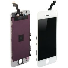 3 in 1 (New High Quality LCD, Touch Pad, LCD Frame) Digitizer Assembly for iPhone 5S(White)