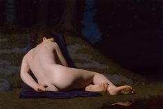 Nicholas Hiltner, Nymph at Rest, Oil on Linen, 24 x 36 inches, 2010