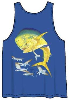b4b5b84a2644f Guy Harvey Bull Dolphin Back-Print Men s Tank Top in Royal Blue