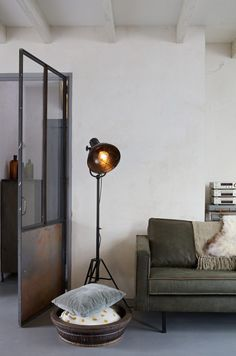 Buy The Spotlight Floor Lamp - Black by BePureHome Online UK. Designer Floor Lamp from BePureHome's Spotlight Collection. Industrial Living, Industrial Interiors, Sofa, Couch, Rodeo, Spotlight Floor Lamp, Floor Standing Lamps, Black Floor Lamp, Room Lamp