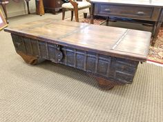 This hardware restoration cocktail table with chest is $399. #uniquefind