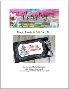 Gift Card Boxes, Treat Holder, Paper Pumpkin, Color Combos, Thursday, 3 D, Stampin Up, Paper Crafts, Chocolate