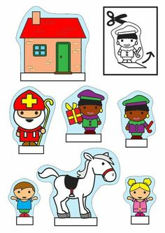 Saint Nicholas show-box crafts Crafts and arts for children. Diy For Kids, Crafts For Kids, Arts And Crafts, Christmas In Holland, Diorama Kids, St Nicholas Day, Paper Puppets, Saint Nicolas, Christmas Coloring Pages