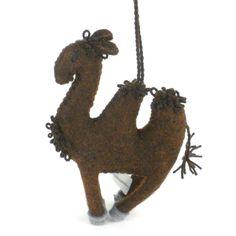 Global Crafts Handmade Felt Camel Holiday Ornament