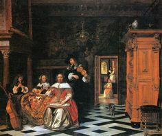 Portrait of a family of musicians, 1663 - Pieter de Hooch
