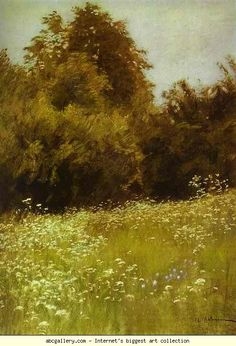 Isaac Levitan. Meadow on the Edge of a Forest.