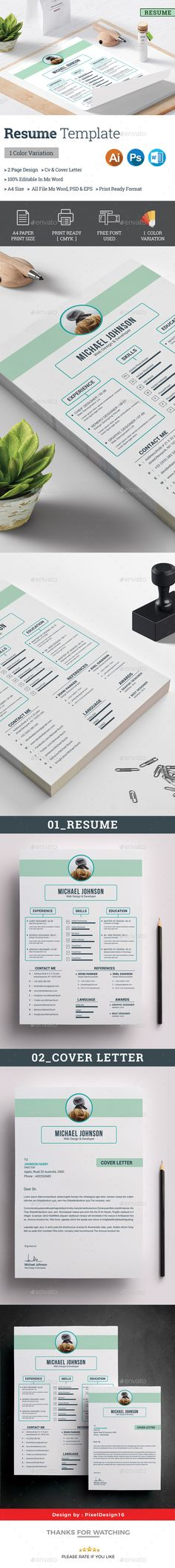 Resume Cv resume template and Template