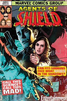 """New """"Agents of SHIELD"""" Poster (by  Ryan Sook) Goes Retro with Fitz, Simmons & Hyde - Comic Book Resources"""