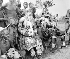 Africa | Kuba or Bushoong masqueraders. Congo | ©unknown
