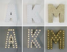 16 Glitter Marquee Letter LED Night light by whirlwindbyRAB, $52.25