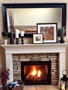 Fireplace: Having Come Across Several Blogs Where Brick Fireplaces Had Been Brick Fireplace Living Room from Home Improvement: Fireplace Makeovers