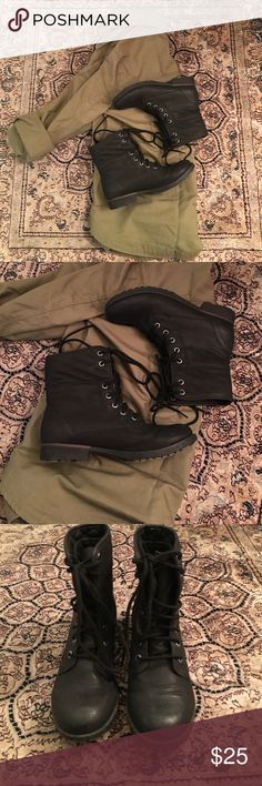 Rock & Candy Black Combat Boots Rock & Candy Size 6 Black Lace-Up Combat Boots. Rock & Candy Shoes Combat & Moto Boots