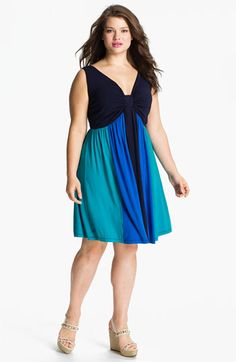 Calvin Klein Multicolor Sleeveless Jersey Dress (Plus Size) available at #Nordstrom