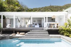 The perfect outdoor space for summer at the Villa Palmier in St Barts