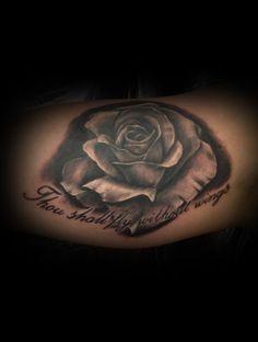 Rose Tattoo by Craig Harris, Frostbite Tattoo, NZ