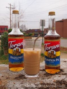 Torani Syrups. Buy them at Walmart or World Market. Bring the coffee shop experience to your home! Great gift idea!
