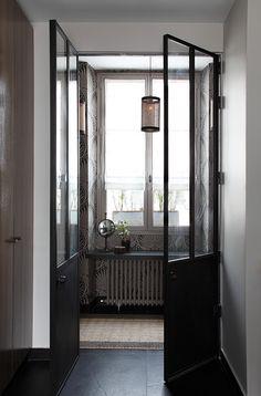 Cloison verri re et porte m tallique les ateliers du 4 for Cherche miroir design
