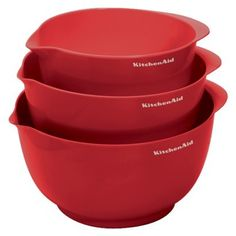 KitchenAid 3-pc. Mixing Bowl Set - Red