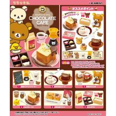 What's the use of a coffee table without some nice sweets & yummy beverages?!!?! ^_^ Rilakkuma chocolate cafe' rement series.