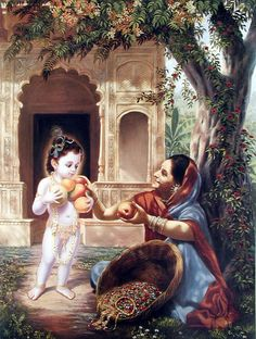 Krsna blesses the fruit vendor