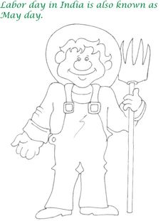 labor day coloring pages | print this page | american holidays ... - Labor Day Coloring Pages Kids