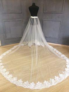 dda432d769 Overskirt wedding skirt, lace overskirt with train , wedding skirt, detachable  wedding skirt, deta