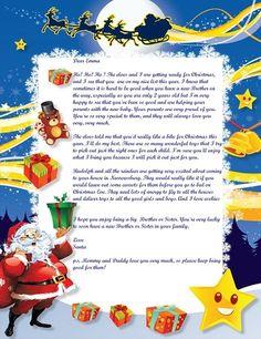 Letter from Santa new 2013