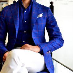 Coupe / Bleu / Carreaux / Chemise / Pochette / Pantalon / Couleurs