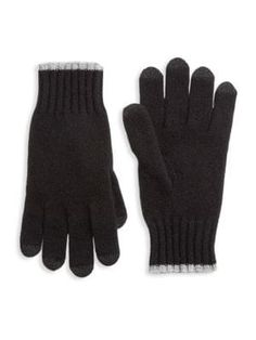 Saks Fifth Avenue Collection Touch Tech Cashmere Gloves In Black Fifth Avenue Collection, Cashmere Gloves, Mens Gloves, Saks Fifth Avenue, Knitting, Tech, Black, Technology, Black People