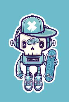 Skullbot by cronobreaker.deviantart.com on @deviantART