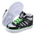 Adidas Childrens Hardcourt Hi II (Infant) Black fashion sneakers