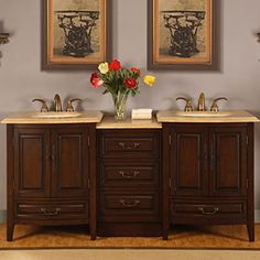 """Bathroom Cabinets Double Sink manhattan 72"""" double sink vanitymission hills® these two are"""