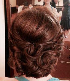 Updo for very short hair Very Short Hair, Short Wedding Hair, Updos, Wedding Styles, Wedding Hairstyles, Short Hair Styles, Hair Makeup, Beauty, Up Dos