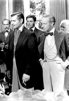 goldenageestate: Clark Gable & Leslie Howard...   ItsaGableThing