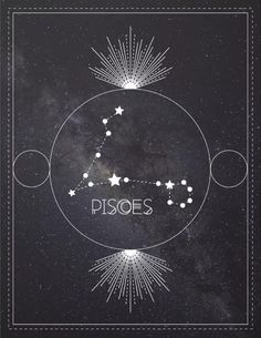 Pisces Zodiac Constellation Art Print by forestvdesigns – pisces constellation tattoo Pisces Tattoo Designs, Pisces Tattoos, Tatoos, Pisces Constellation Tattoo, Zodiac Constellations, Astrology Pisces, Pisces Zodiac, Rain Design, Chakra Art