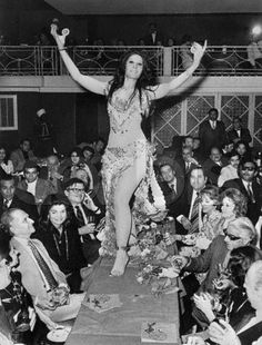 Jackie Onassis didn't take as well to a bellydancer in Egypt as she did the Nile. Ari liked it.