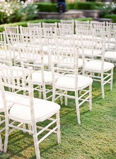 Ceremony (Vista Room, indoors) - White Chiavari Chairs with white pads (Elegant Beginnings Events) Gold Wedding Theme, Wedding Set Up, July Wedding, Wedding Ceremony, Wedding Ideas, Chiavari Chairs Wedding, The Woodlands Resort, Wedding Centerpieces, Wedding Decorations