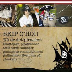 Pirat og sjørøverfest!