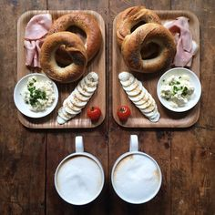"""Sunday: Homemade sourdough poppyseed bagels we made in our @e5bakehouse workshop yesterday with smoked Brunswick ham, Boursin, egg, tomato and a caffè…"""