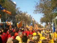 """""""V"""" per la independència de Catalunya. Barcelona."""