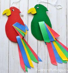 ❤ Forgó karton papír papagájok - kreatív ötlet gyerekeknek ❤Mindy -  kreatív ötletek és dekorációk minden napra