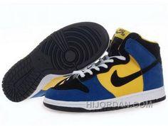 online store be045 677dd Coupon Code For Mens Nike Dunk Sb High Top Shoes Blue Yellow Black, Price  90.00 - Air Jordan Shoes, Michael Jordan Shoes