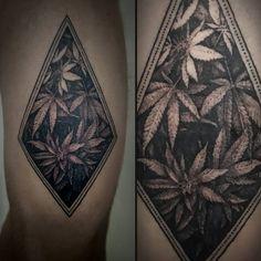 16 Stoned Weed Tattoos   Tattoodo.com
