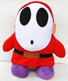 "Stuffed Toy Plush Doll 7"" Nintendo Super Mario Brothers Bros Shy Guy"