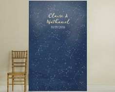 "Personalized ""Under The Stars"" Photo Backdrop #photobackdrop #wedding #backdrop"