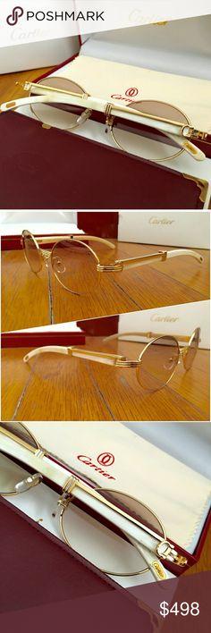 0bda388816fdb 🔥SALE🔥Gold Natural Horn Vintage Cartier Glasses! Vintage Natural Horn  Cartier 👉 Unisex
